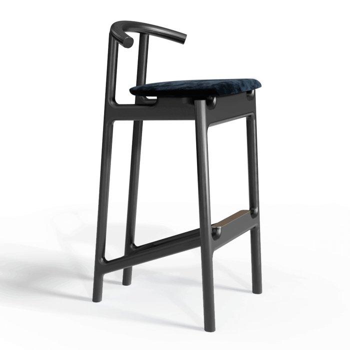 Барный стул Hans black/velvet black