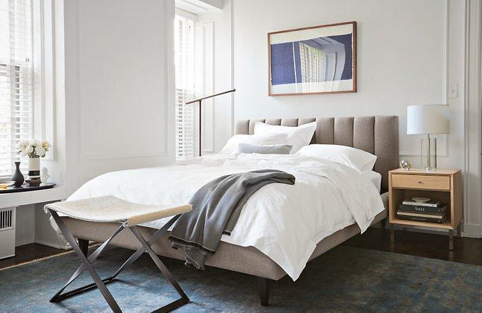 Кровать Клэр 160х200 серо-бежевого цвета с подъемным механизмом