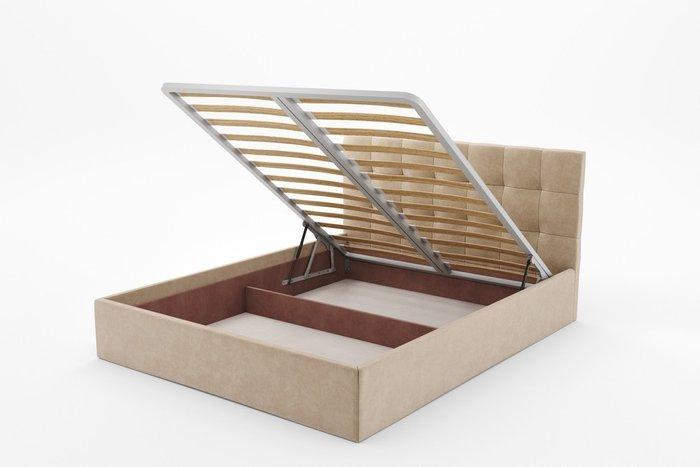 Кровать Данко 140х200 бежевого цвета с подъемным механизмом