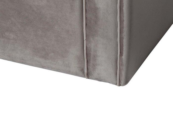Диван трехместный раскладной из серо-бежевого цвета