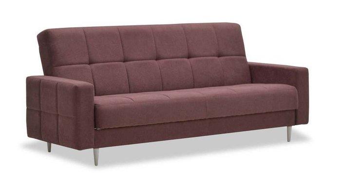 Диван-кровать Виконт бордового цвета