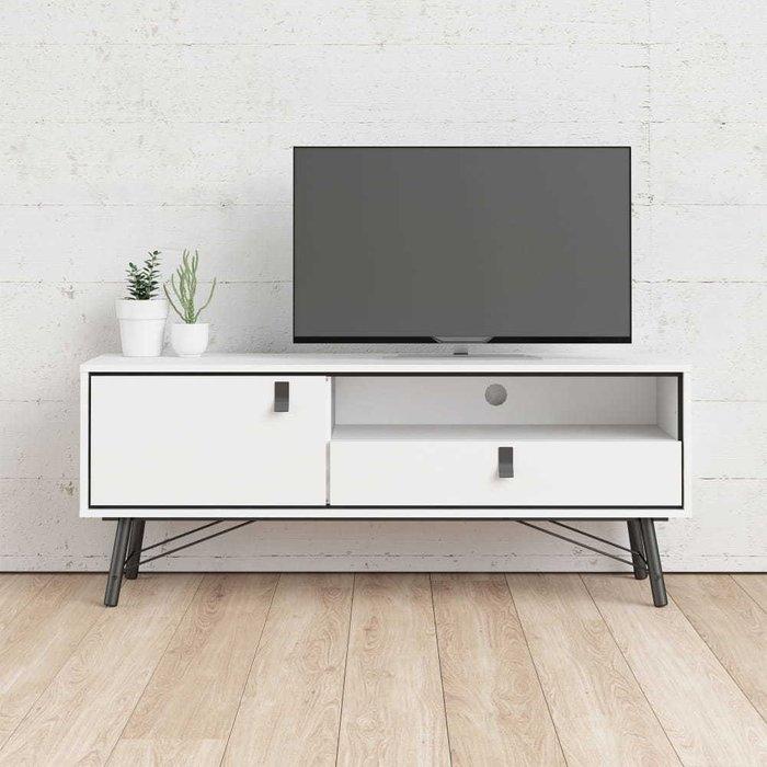 Тумба под телевизор RY Рай белого цвета