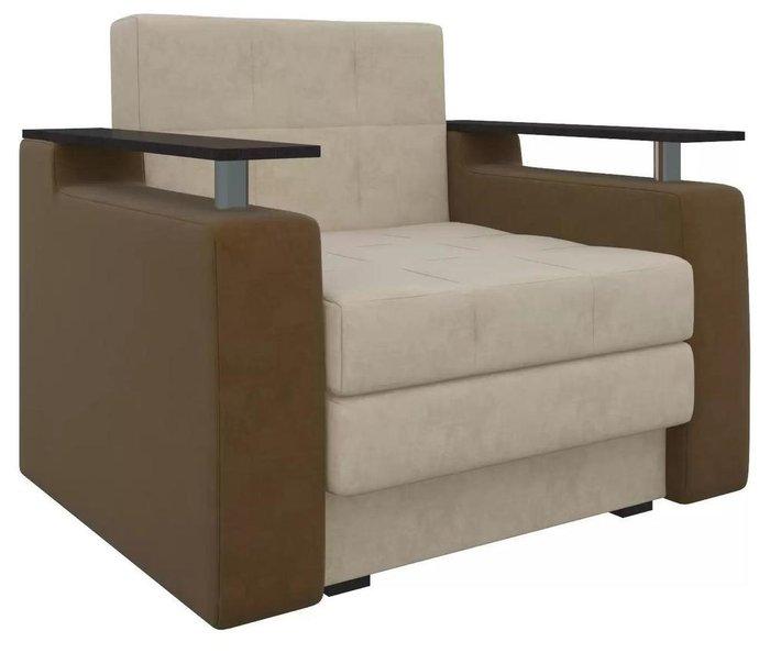 Кресло-кровать Мираж бежево-коричневого цвета