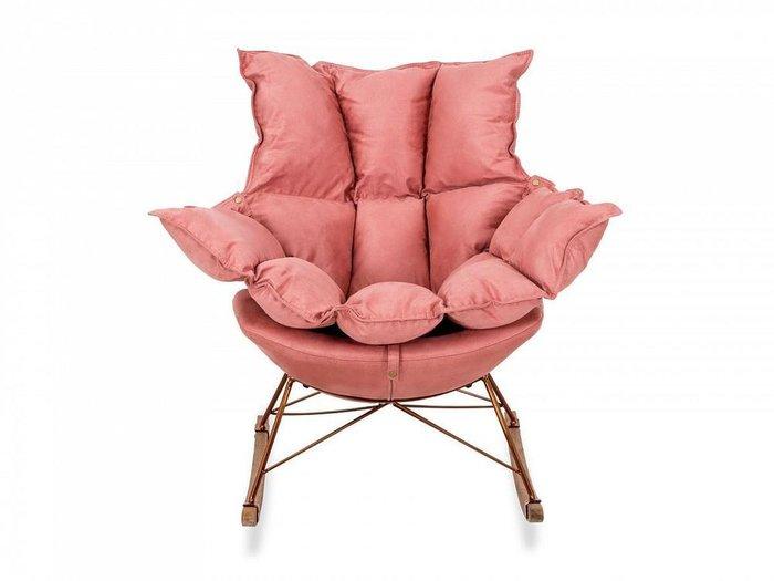 Кресло-качалка Ariella розового цвета