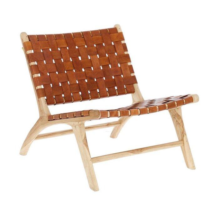 Кресло Brown Calixta коричневого цвета