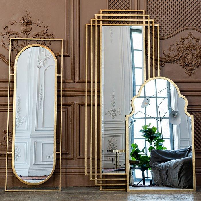 Настенное зеркало Эмпайр в раме золотого цвета