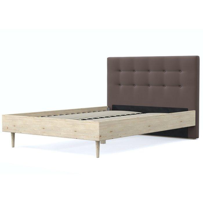 Кровать Альмена 140x200 бежево-коричневого цвета