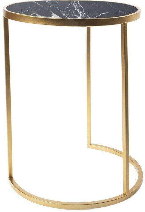 Столик интерьерный с чёрным мрамором