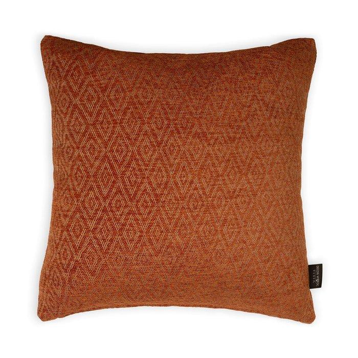 Декоративная подушка Zoom Rhombus Orange оранжевого цвета