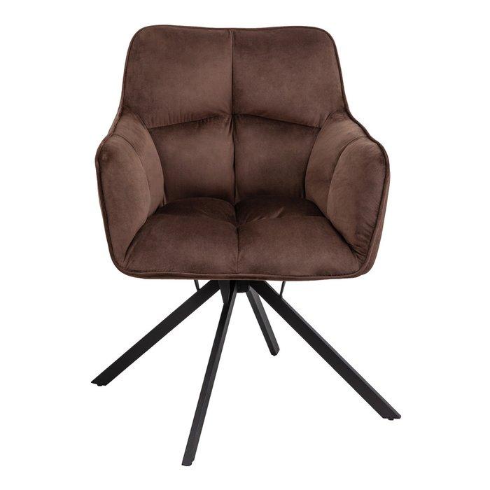 Кресло поворотное  Virginia коричневого цвета