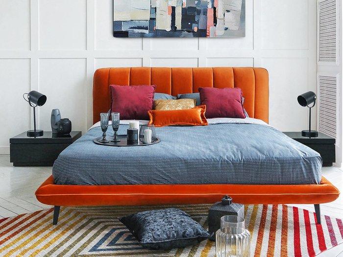 Кровать Amsterdam 160х200 серого цвета