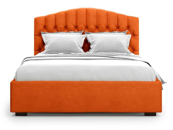 Кровать с подъемным механизмом Lugano 140х200 оранжевого цвета