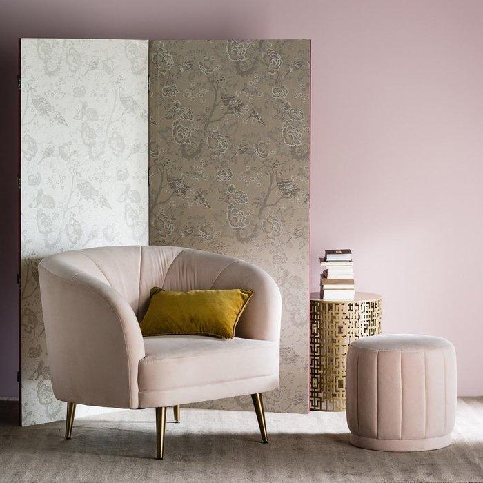 Пуф Leone розового цвета