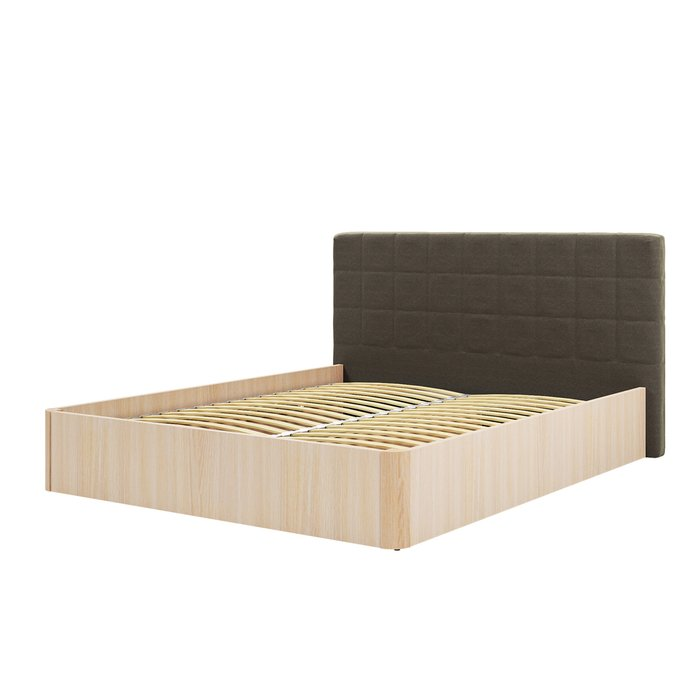 Кровать Магна 180х600 с серо-коричневым изголовьем и подъемным механизмом