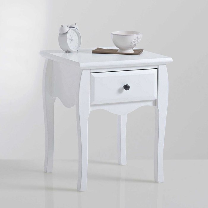 Прикроватная тумба с  ящиком  Lison белого цвета