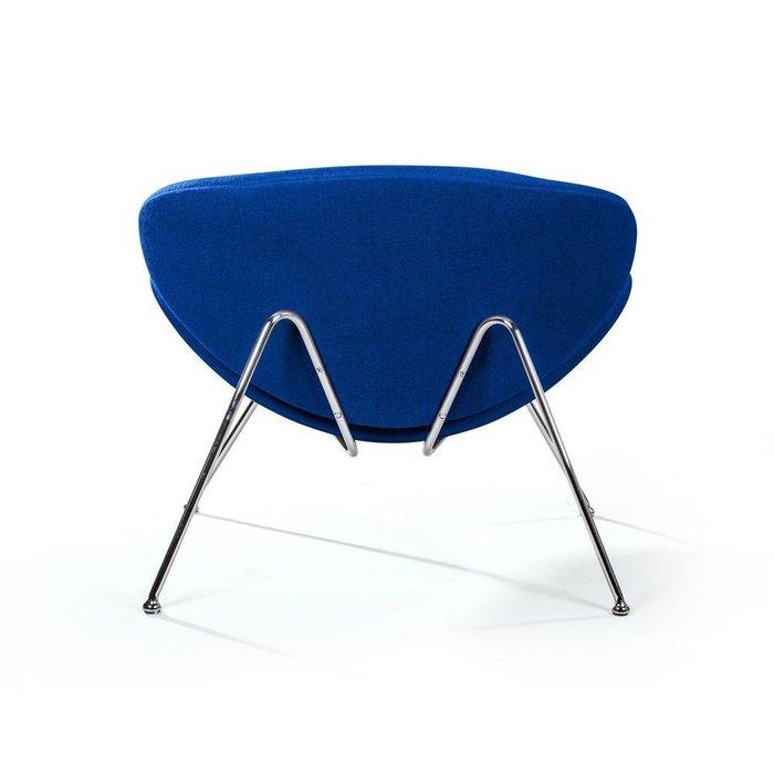 Лаунж кресло Slice синего цвета