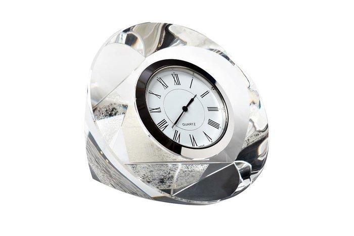 Настольные часы из алюминия и стекла