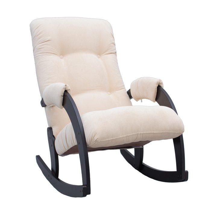 Кресло-качалка Модель 67 с обивкой Verona Vanilla