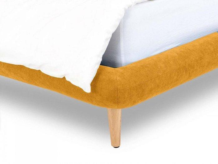 Кровать Loa желтого цвета 160x200
