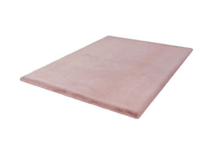 Однотонный ковер Heaven пудрово-розоввого цвета 80х150