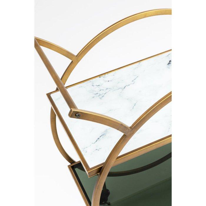 Тележка приставная Loft из металла и стекла