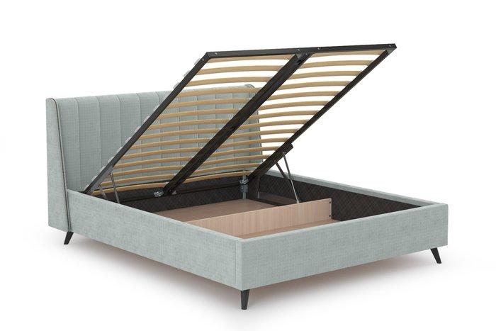 Кровать Мелисса 160х200 с подъёмным механизмом и дном серебристо-серого цвета