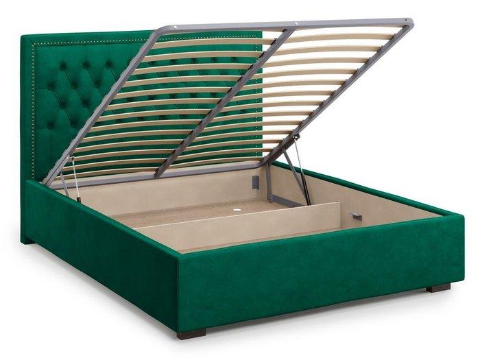 Кровать с подъемным механизмом Orto 160х200 зеленого цвета