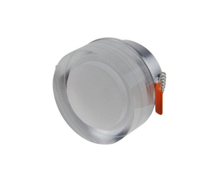 Встраиваемый светодиодный светильник Точка из металла и стекла
