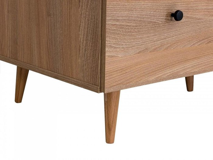 Шкаф Frida на деревянных ножках с двумя выдвижными ящиками