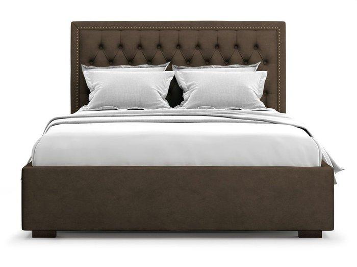 Кровать с подъемным механизмом Orto 160х200 коричневого цвета