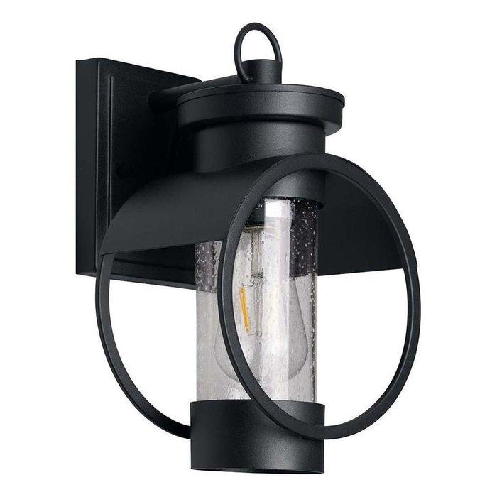 Уличный настенный светильник черного цвета