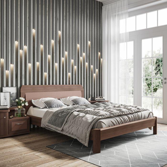 Кровать Магна 180х200 коричневого цвета