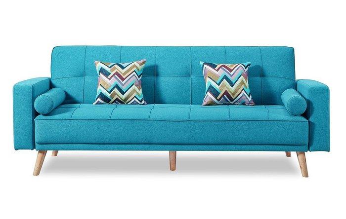 Диван-кровать Scandinavia лазурного цвета