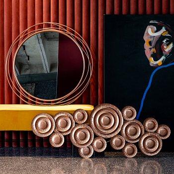 Настенное зеркало Гелиос Голд матового золотого цвета