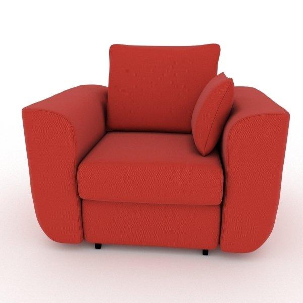 Кресло-кровать Stamford красного цвета