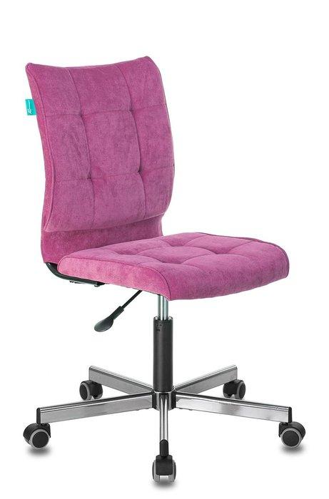 Стул офисный Бюрократ розового цвета