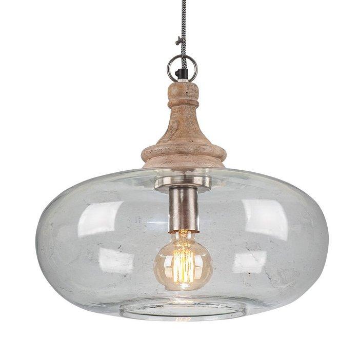 Светильник подвесной с плафоном из стекла