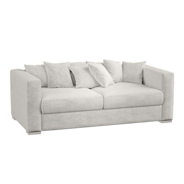 Модульный диван-кровать Lounge светло-серого цвета