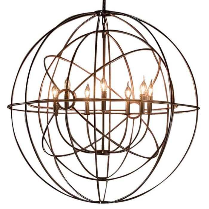 Люстра лофт Foucault's Orb со стальным основанием
