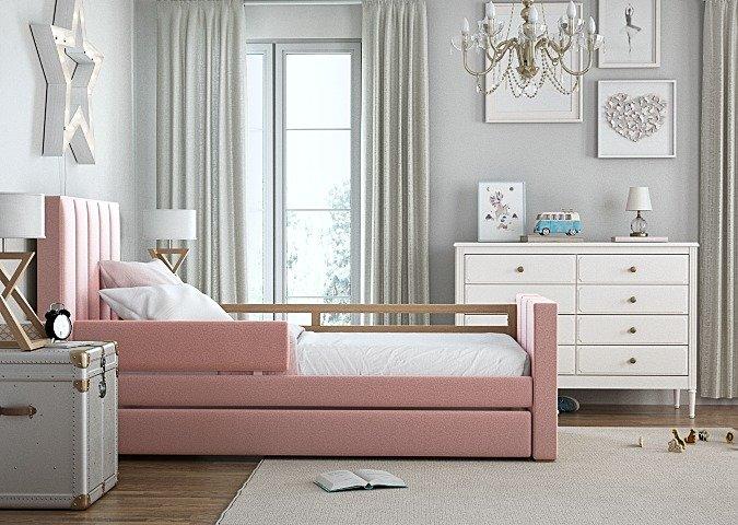 Кровать Cosy спальное место 90х200 розового цвета