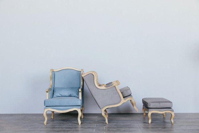 Кресло Сезарина нежно-голубого цвета