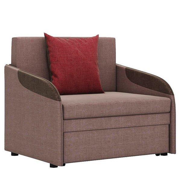 Кресло-кровать Громит S в обивке из велюра коричневого цвета