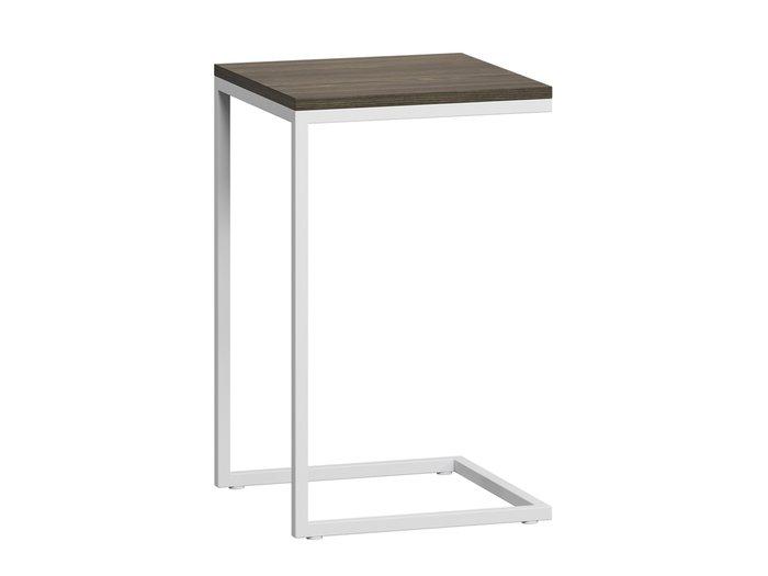 Стол приставной Бервин с белым основанием