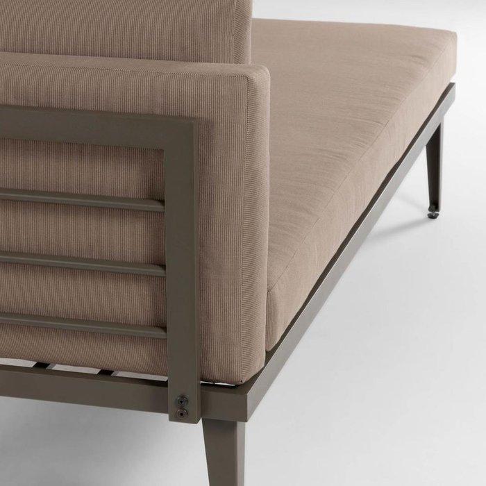 Шезлонг Pascale chaise longue коричневого цвета