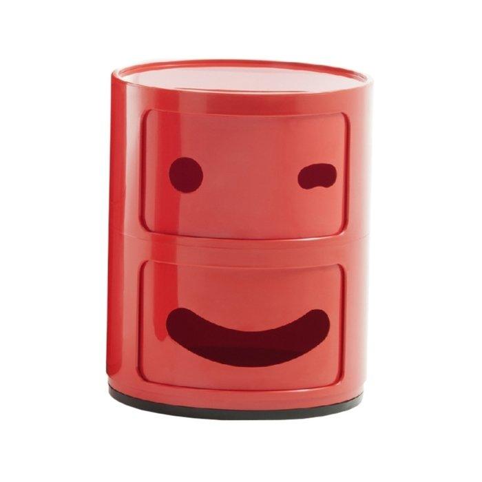 Тумба Componibili Smile глянцево-красного цвета