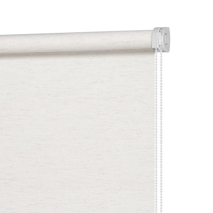 Рулонная штора Миниролл Натур Яркий белого цвета 50x160