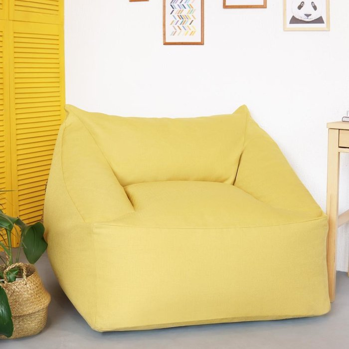 Кресло с подлокотниками Angle желтого цвета