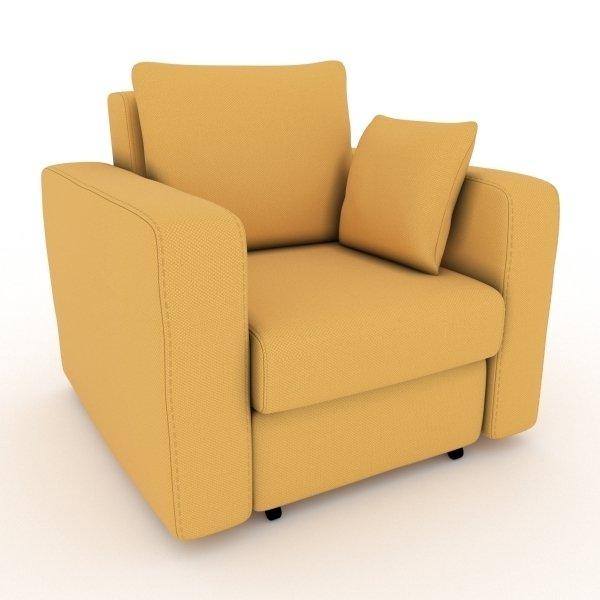 Кресло-кровать Liverpool желтого цвета