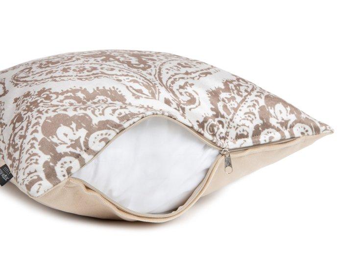 Декоративная подушка Blanca 45х45 бело-бежевого цвета