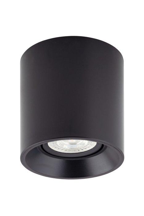 Точечный накладной светильник черного цвета